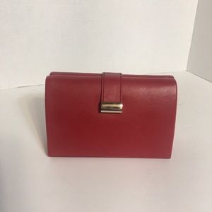 Red Leather Clutch Style Jewelry Box!